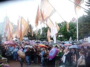 Флаги Юго-Восток Луганск митинг 12 мая