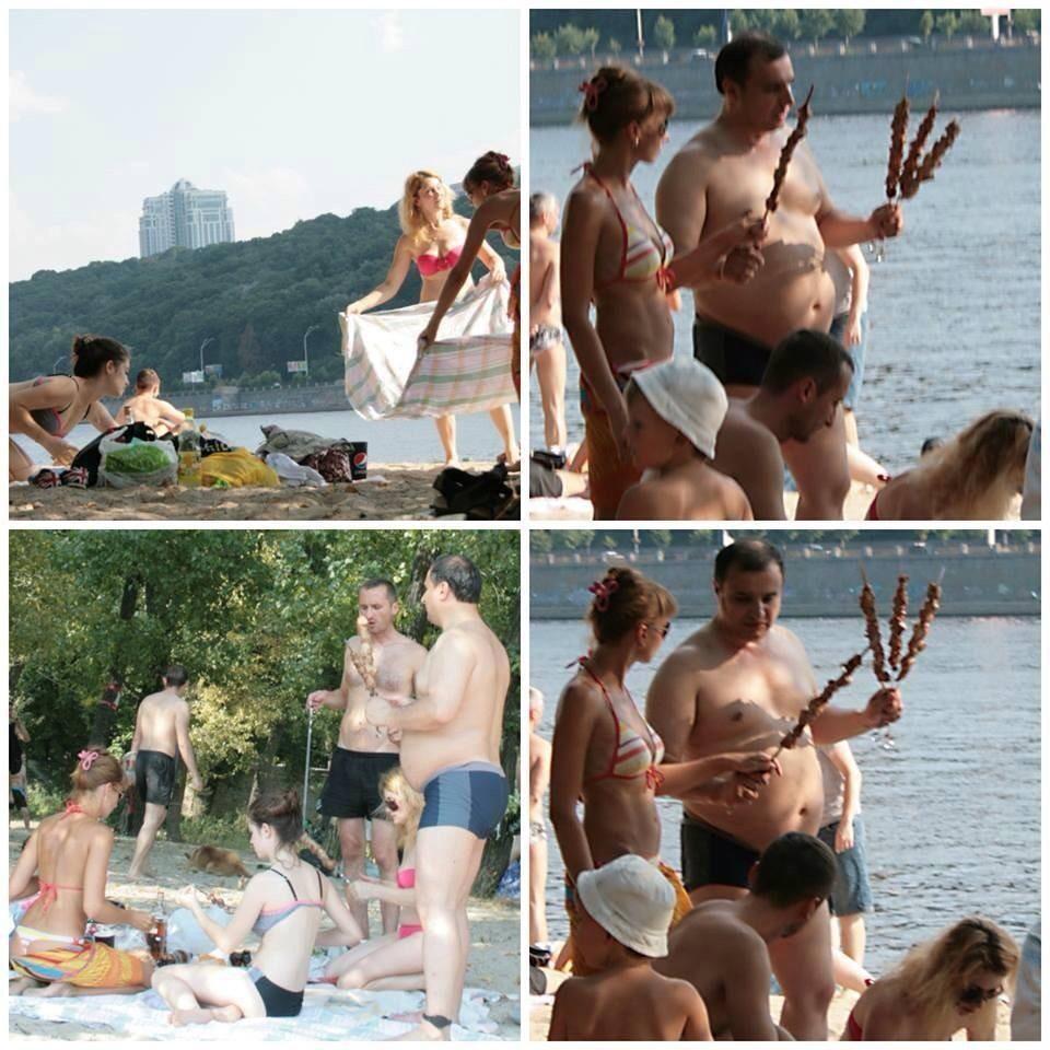 Клинчаев отдыхает на киевском пляже. С браслетом на ноге (ФОТО)