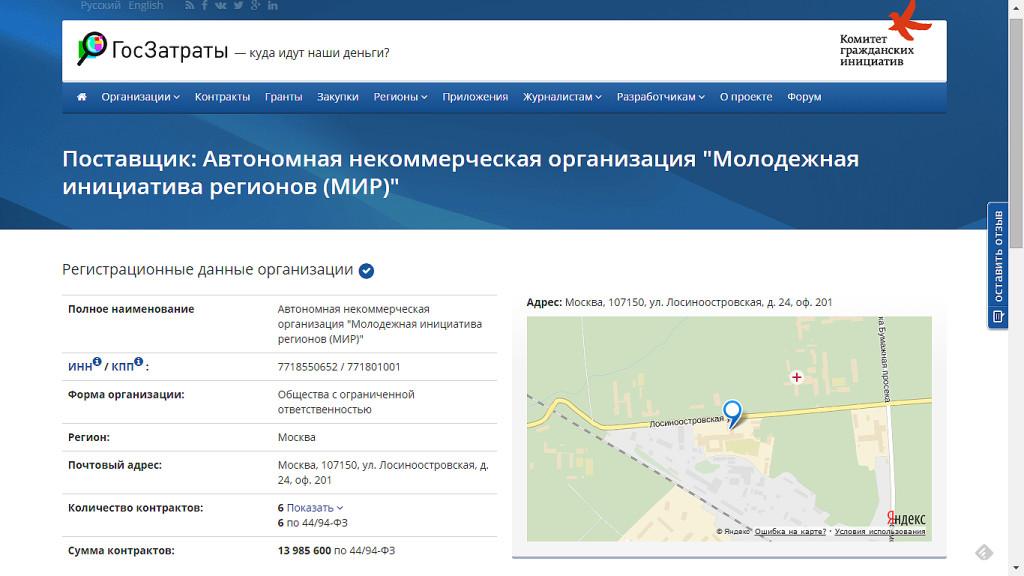 Почти 10 миллионов рублей за «консультативные услуги по общим вопросам управления»