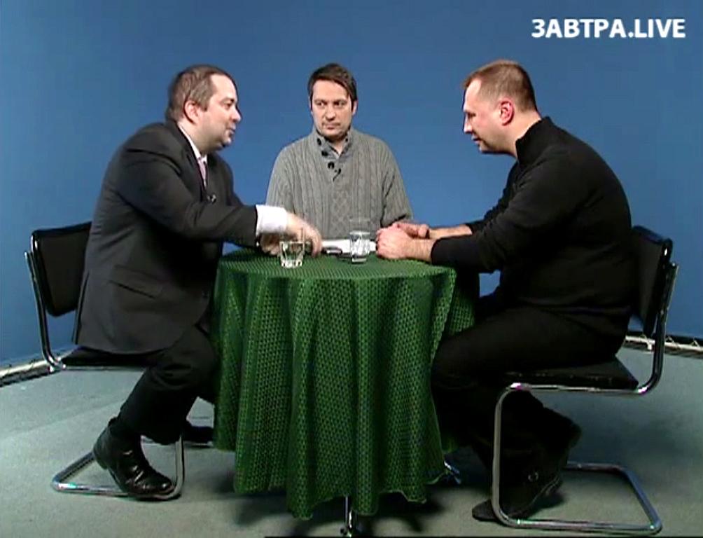 Павел Карпов и будущий «премьер-министр» «ДНР» Бородай дискутируют, как давние приятели