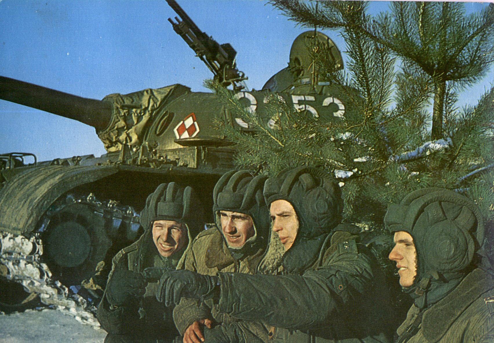 Экипаж только что поступившего в Войско Польское Т-55 накануне зачистки Ковеля