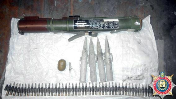 У жителя Авдеевки изъяли гранатомет и боеприпасы (фото)