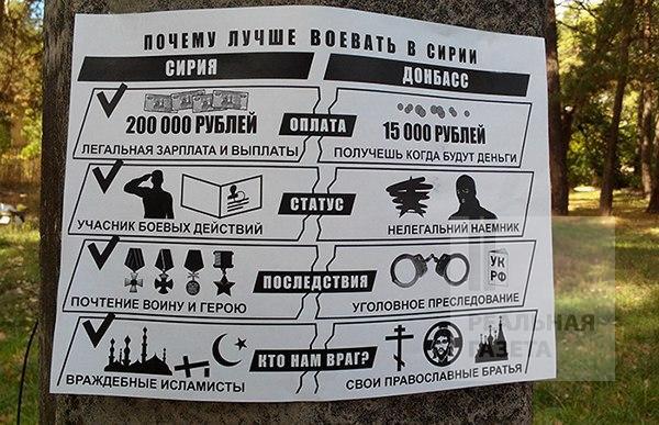 В «ДНР» появились листовки, призывающие ехать воевать в Сирию (фото)