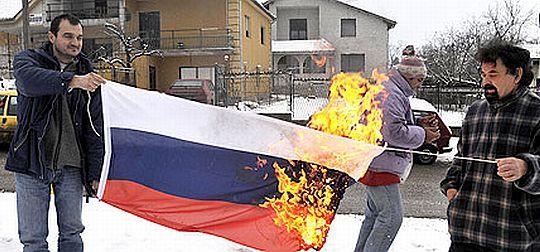 В Луганске сжигать флаг агрессора опаснее, чем, например, в Грузии