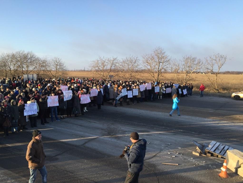 «Стихийный» митинг в «ДНР» 25 декабря. Фото - Донецкое агентство новостей