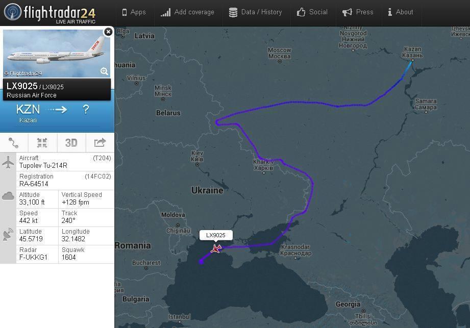 Военный самолет-разведчик Ту-214Р вторгся в Украину (фото)