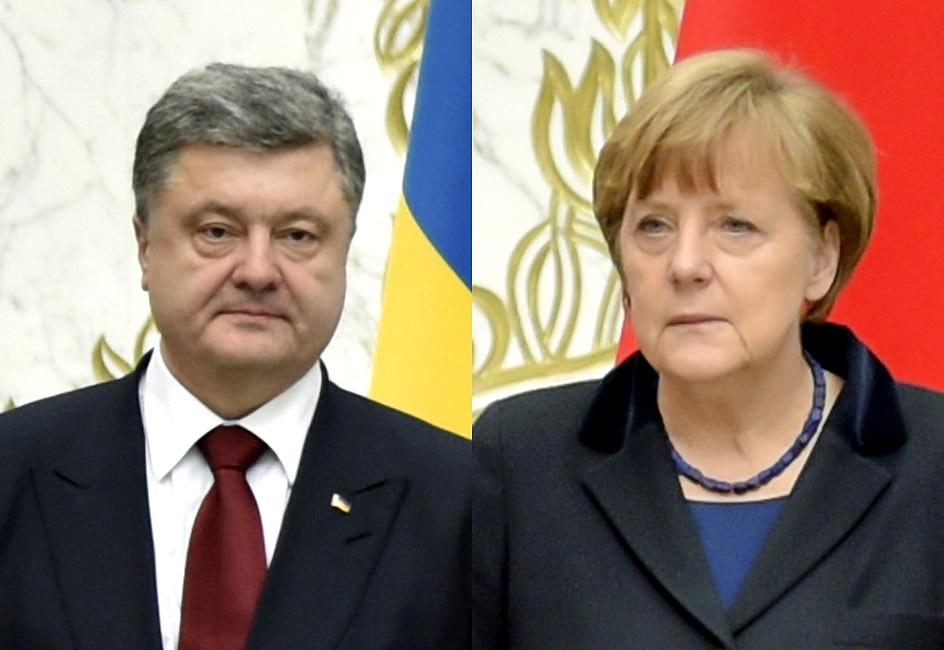 Порошенко поговорил с Меркель перед разговором «Нормандской четверки»