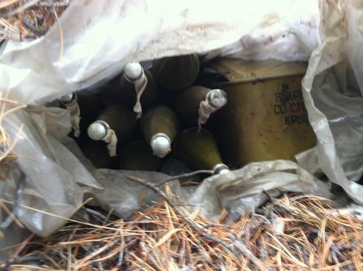 СБУ: В Станично-Луганском районе обнаружен тайник с гранатометами (фото)