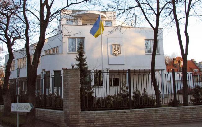 В Москве посольство Украины забросали яйцами