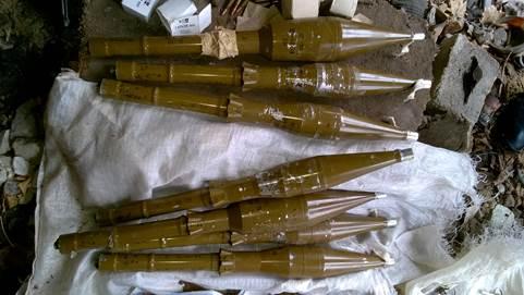 В Счастье обнаружен тайник с гранатометами и патронами для бесшумной стрельбы (фото)