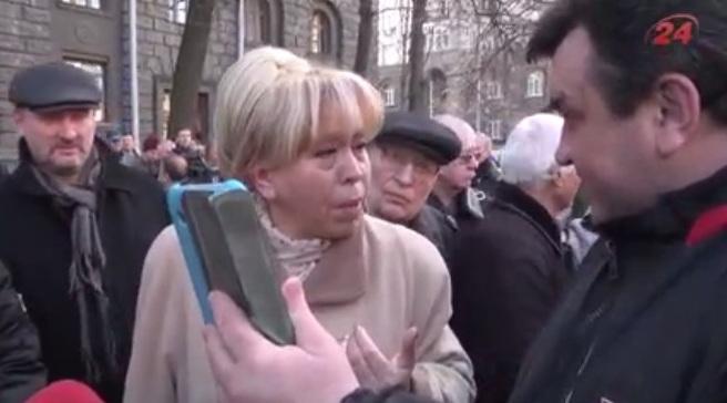 В Киеве заметили активистку сепаратистских митингов (видео)
