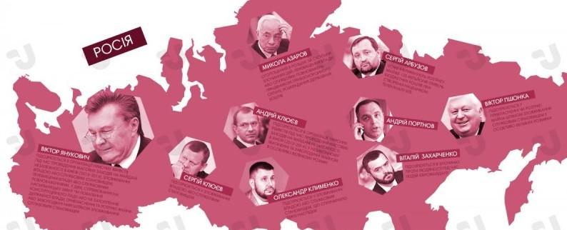 Где сейчас находятся правительственные чиновники времен правления Януковича