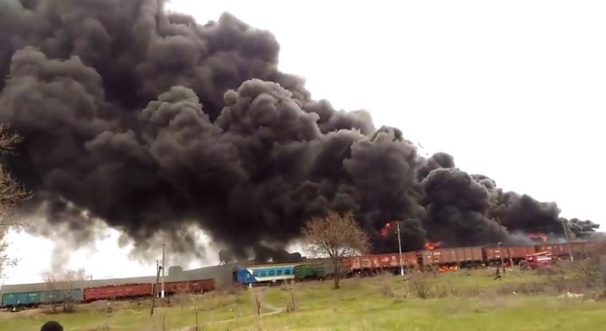 В ОБСЕ рассказали о пожаре на ж/д-станции в Краснодоне