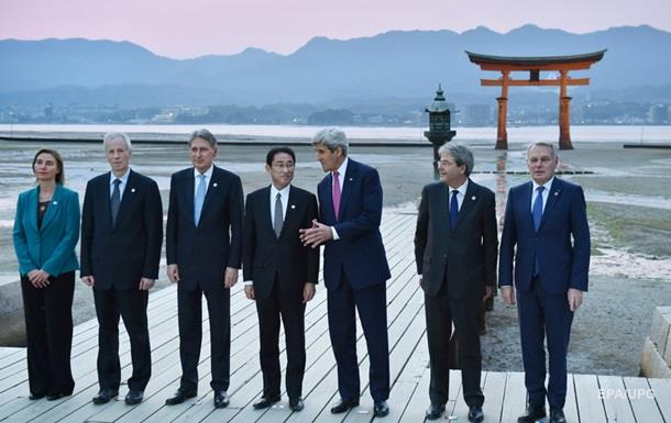 G7 призвала РФ оказать влияние на боевиков на Донбассе