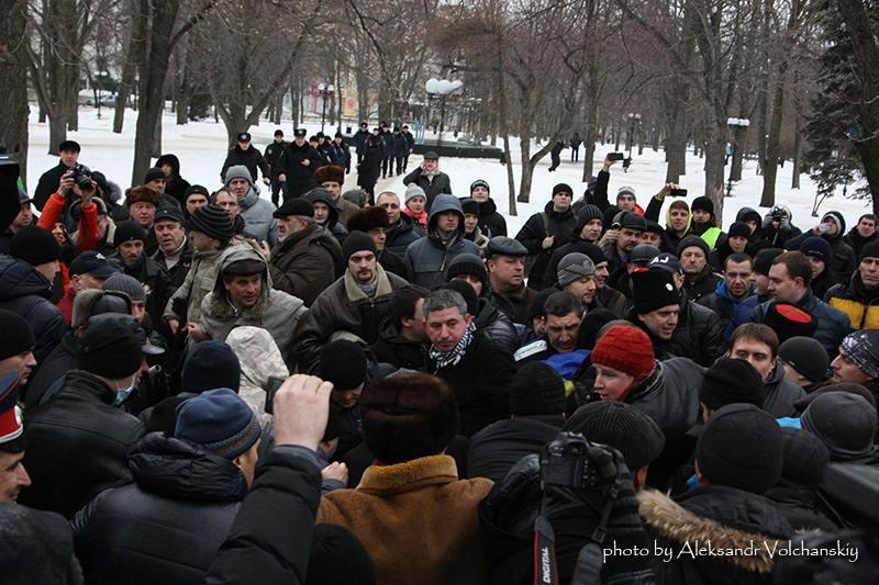 Бритюк на Евромайдане 9.02.2014