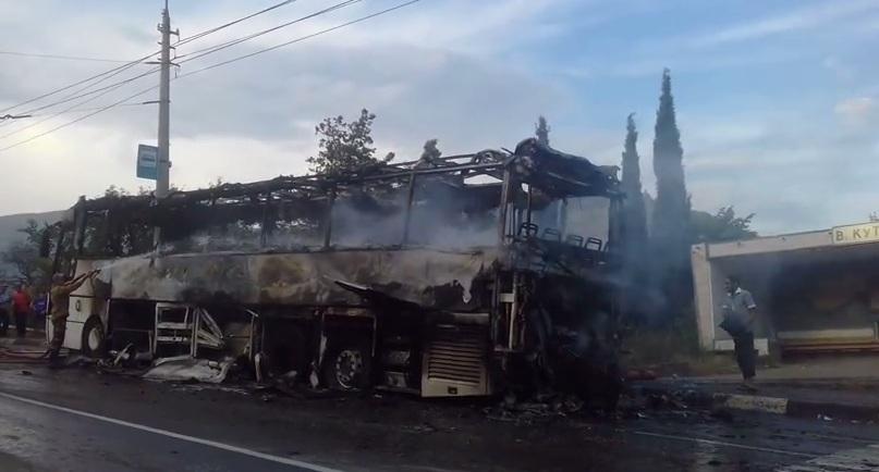 сгорел автобус в краснодаре последней стадии строительства