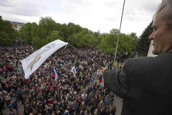 Захват Луганской ОГА 29.04.2014