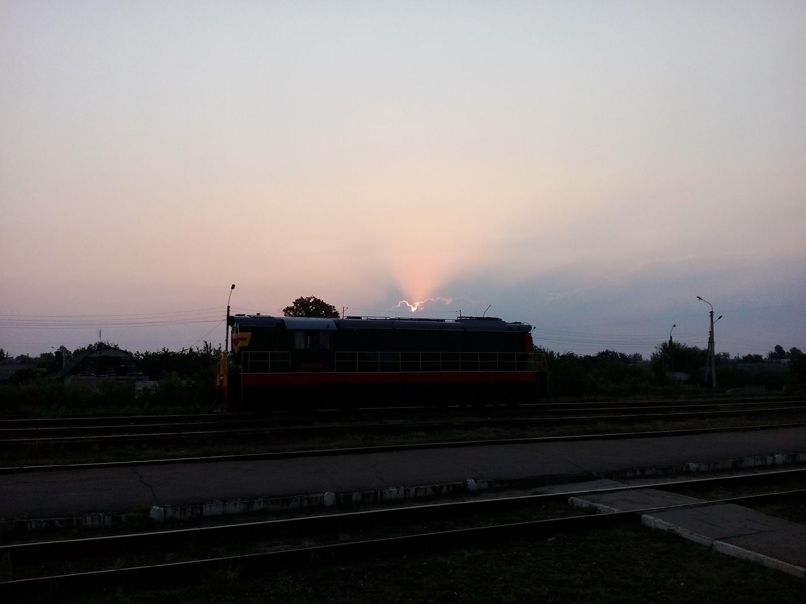 Рассвет на станции Рубежное
