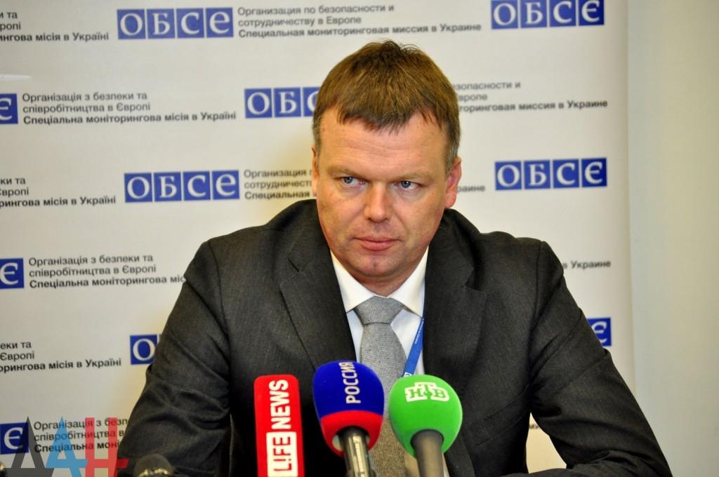 Замглавы миссии ОБСЕ Хуг провел в Донецке переговоры с Захарченко