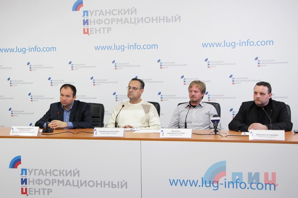 Пресс-конференция «наблюдателей» в «ЛуганскИнфорЦентре»