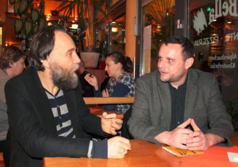 Мануэль Оксенрайтер с Александром ДУгиным
