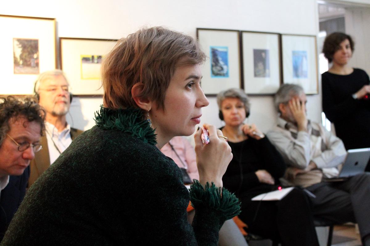 Заславская на Европейских дебатах в Харькове, декабрь 2015