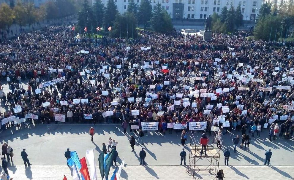 Боевики «ЛНР» пожаловались что ОБСЕ проигнорировало их «постановочный митинг»
