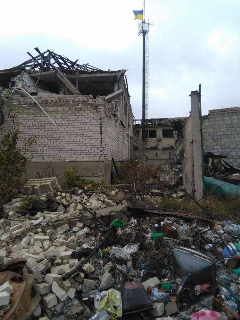 Бывший райотдел милиции в Станице разрушен настолько, что уже не восстановить (фото)