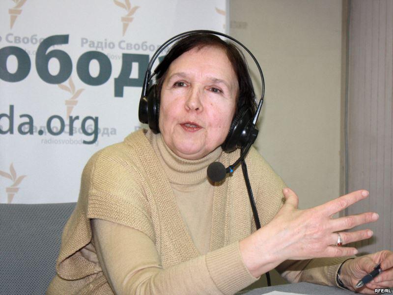 Лариса Масенко в эфире «Радио Свобода» (фото RFE/RL)