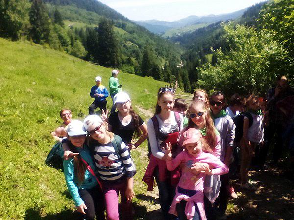 Дети из Марьинки и Красногоровки на Верховине