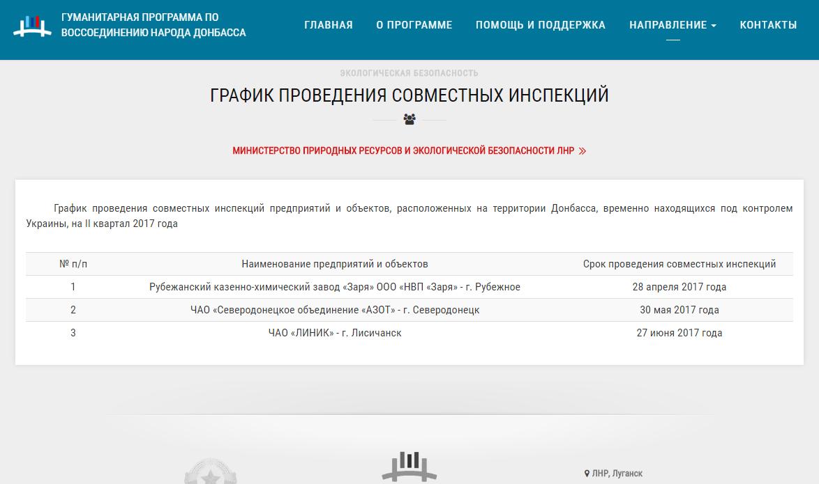 ЛДНР готовятся инспектировать Зарю