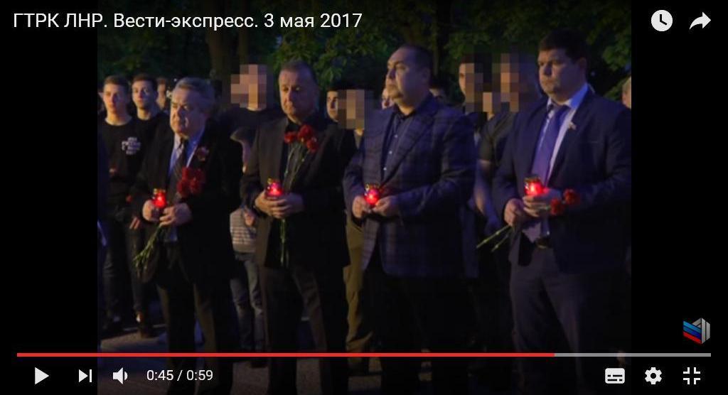 Плотницкий на митинге 2 мая в Луганске. Фото – кадр из трансляции «ГТРК ЛНР»