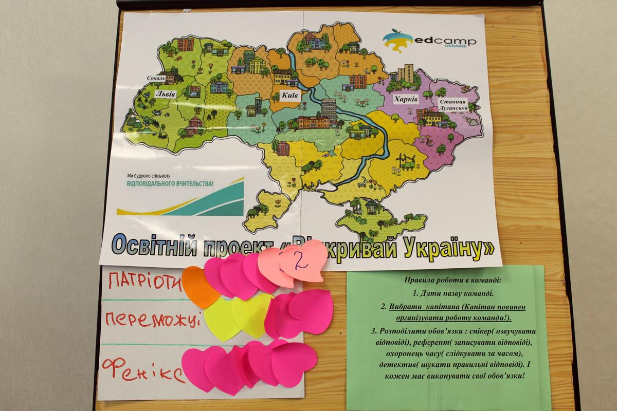 В ходе квеста сборный класс Станично-Луганского района прошел маршрут Станица – Киев – Сокаль – Харьков
