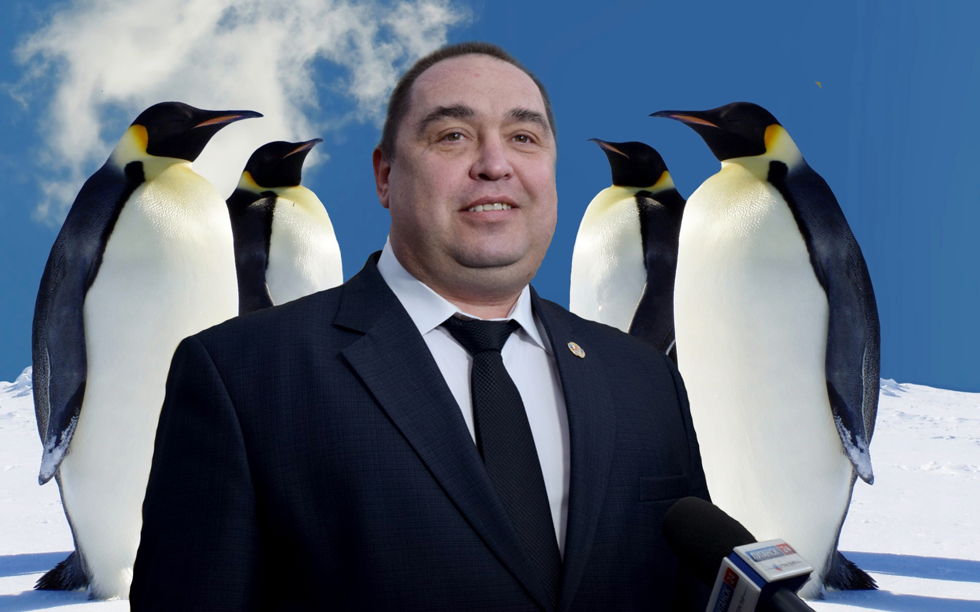 Плотницкий и пингвины Антарктика