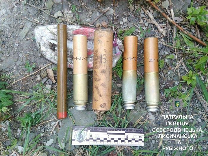 В зоне АТО нашли припрятанные взрывчатые вещества