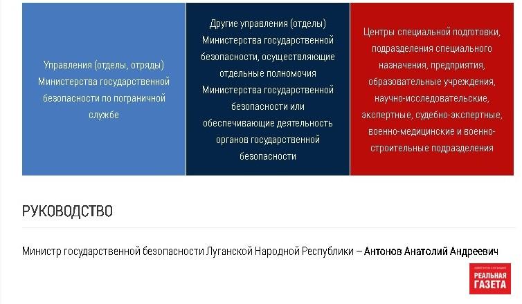 В «ЛНР» новый глава «МГБ»