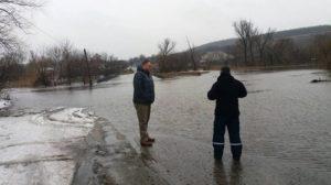 Вода в реке Айдар поднялась почти на 4 метра
