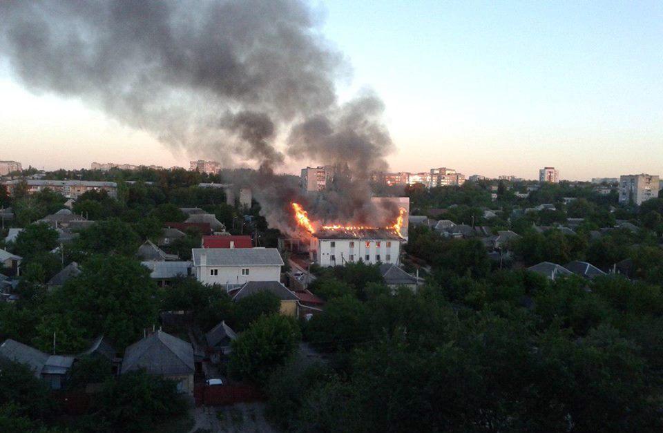 В Луганске сгорел зал царств Свидетелей Иеговы