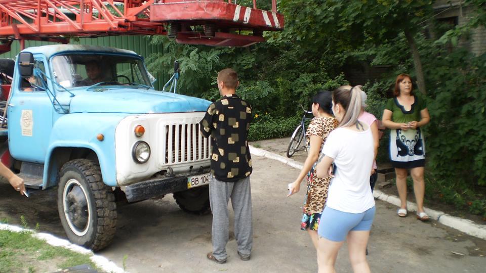 В Рубежном заблокировали автомобиль энергетиков