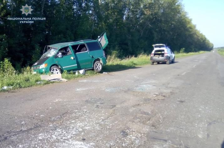 ДТП на Луганщине: пострадал пассажир Mersedes