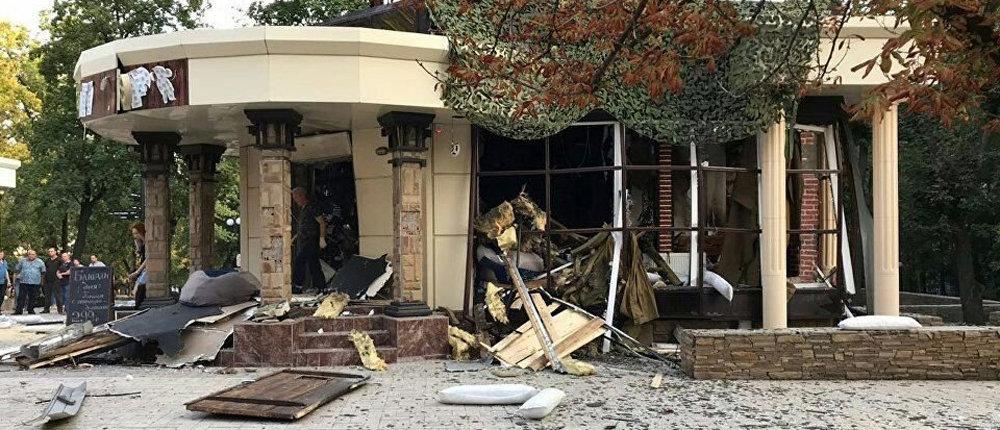 Новая версия взрыва в Донецке: взрывчатка находилась над входом
