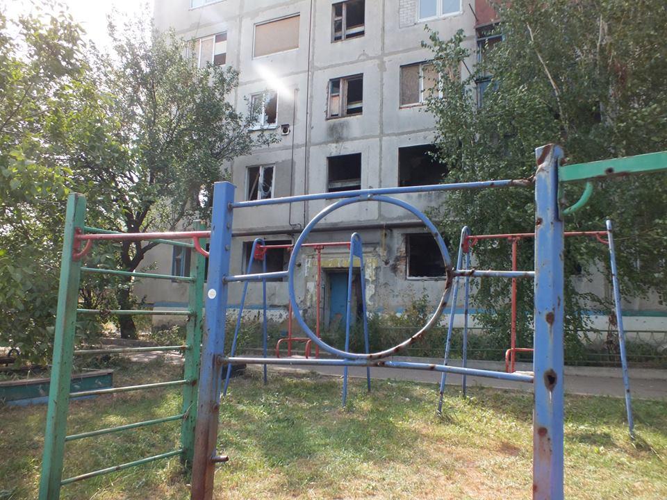 В Красногоровке из-за обстрела сгорел дом