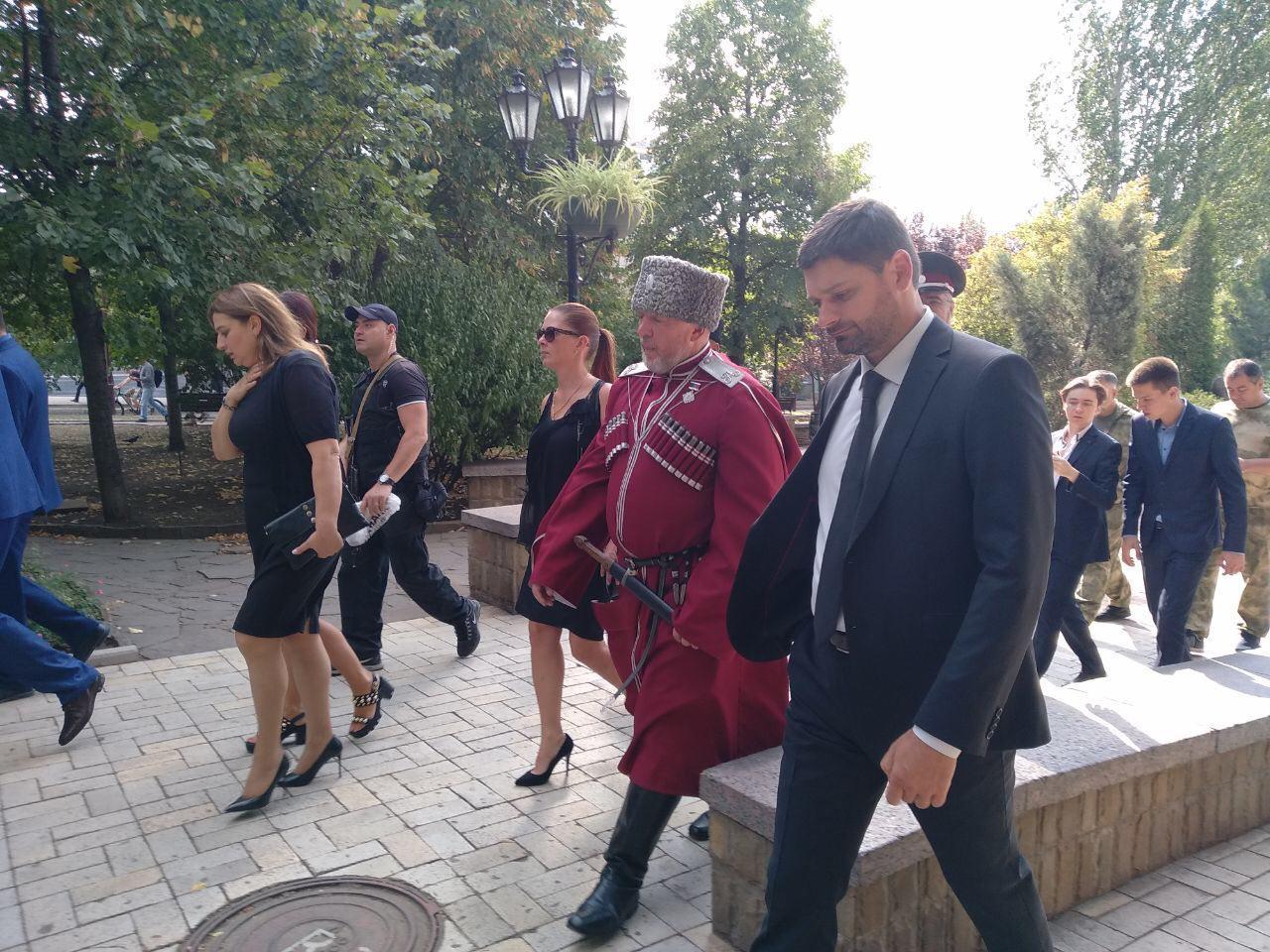 В Донецке прощаются с Захарченко