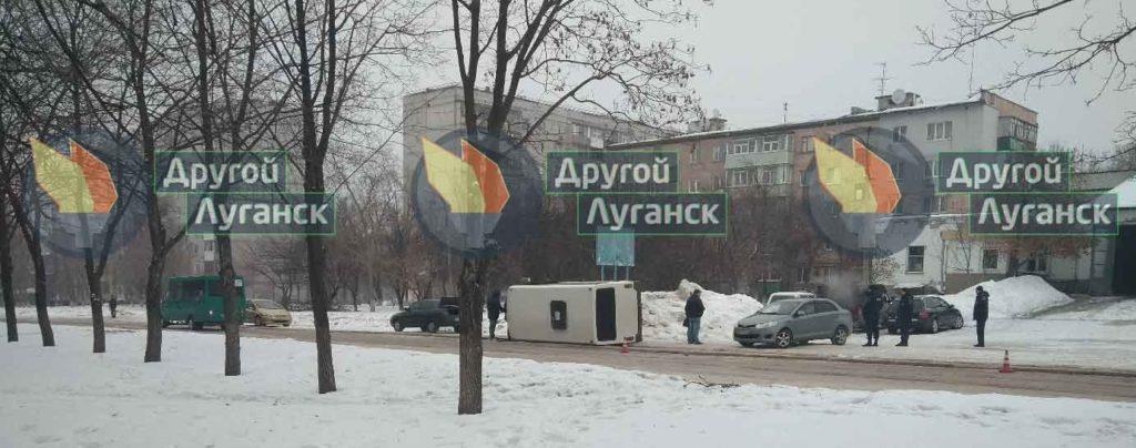За сутки в Луганске произошли два ДТП с общественным транспортом
