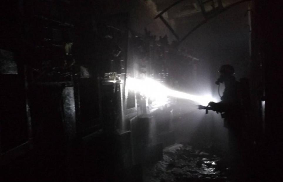 В Донецкой области горел ферросплавный завод