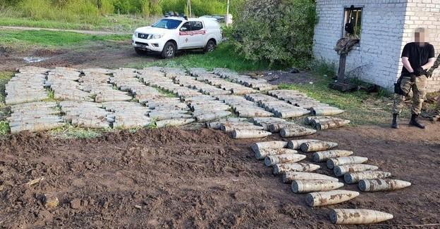 В Луганской области нашли тайник с артиллерийскими снарядами