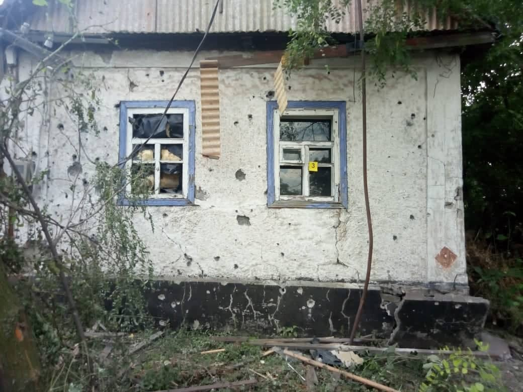 В Екатериновке при обстреле повредили дома. Это квалифицировали как теракт