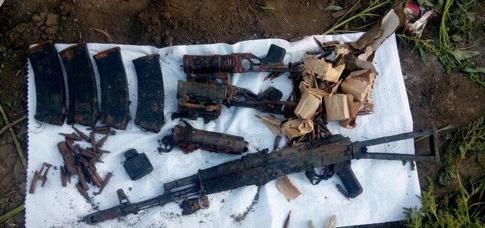В селе Новоайдарщины нашли тайник с боеприпасами