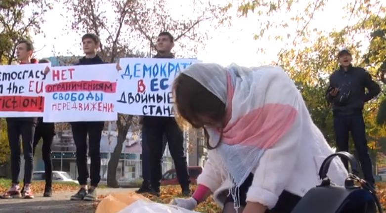 Хотят Шенгенские визы: в Луганске пикетировали здание миссии ОБСЕ