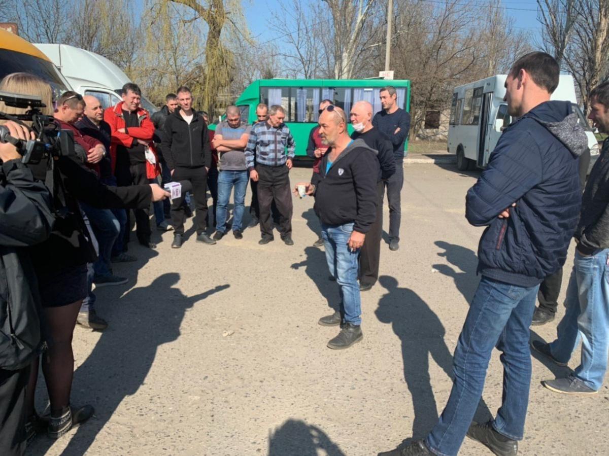 В Покровске водители протестовали против карантинных мер